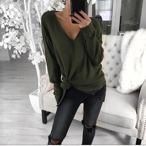 Knit Tunic/Light Sweater in Olive - Reposh